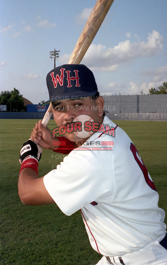 Gary Villalobos of the Winter Haven Red Sox during the 1992 season at Chain of Lakes Park in Winter Haven, Florida.  (MJA/Four Seam Images)