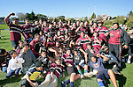 The victorious Puni team after winning the Bob Chandler Memorial trophy. Bob Chandler Memorial final - Senior 1 Championship, Puni vs Waiuku. Puni won 15 - 13. Counties Manukau club rugby finals played at Growers Stadium, Pukekohe, 24th of June 2006.