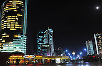 Astana, the capitol of Kazakstan seen at night-time.<br />