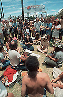 "Dallas, Texas, USA, Juin, 1972, Explo 72. The ""Campus Crusade for Christ"" gathered 80,000 faithful during 5 days to listen to evangelist including Billy Graham, singers such as Johnny cash, groups like Love Song and for the first time ever, rock groups."