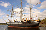 Mystic Seaport Museum of America and the Sea. Charles W. Morgan whaleship. 1841.