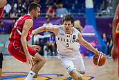 7th September 2017, Fenerbahce Arena, Istanbul, Turkey; FIBA Eurobasket Group D; Belgium versus Serbia; Point Guard Sam Van Rossom #5 of Belgium drives to the basket during the match