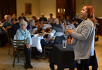 NWA Democrat-Gazette/ANDY SHUPE<br /> Kamra Elizabeth Mays (right), a clinical psychologist, speaks Thursday, Feb. 8, 2018, about mental health issues faced by members of the black community during a forum as part of Black History Month events organized by Compassion Fayetteville in partnership with NWA NAACP.