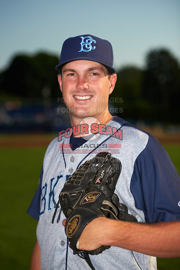 Brooklyn Cyclones pitcher Austin McGeorge (17) poses for a photo before a game against the Batavia Muckdogs on July 5, 2016 at Dwyer Stadium in Batavia, New York.  Brooklyn defeated Batavia 5-1.  (Mike Janes/Four Seam Images)