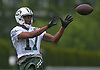 Charone Peake #17, New York Jets wide receiver, makes a catch during the first day of offseason training activity at the Atlantic Health Jets Training Center in Florham Park, NJ on Tuesday, May 23, 2017.