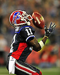 7 December 2008: Buffalo Bills' wide receiver Roscoe Parrish bobbles a 4th quarter fair catch against the Miami Dolphins during the first regular season NFL game ever played in Canada. The Dolphins defeated the Bills 16-3 at the Rogers Centre in Toronto, Ontario. ..Mandatory Photo Credit: Ed Wolfstein Photo