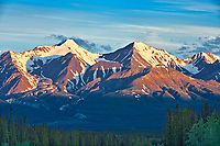 St. Elias Mountains, a subgroup of the Pacific Coast Ranges<br /> , from Haines Junction, Yukon, Canada