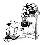 """(Man about to use a """"Test your gullibility machine"""")"""