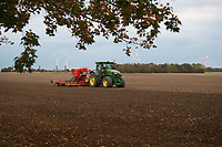 Drilling Winter Wheat in the Cambridgshire Fens<br /> &copy;Tim Scrivener Photographer 07850 303986<br />      ....Covering Agriculture In The UK....