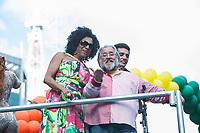SÃO PAULO,SP, 18.06.2017 - PARADA-SP - O apresentador Leão Lobo, durante a 21º Parada do orgulho LGBT na avenida Paulista em São Paulo neste domingo, 18. (Foto: Rogério Gomes/Brazil Photo Press)