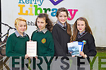 Abigail Boulding and Monika Mika from Tralee Community College, Sorcha Ni Chonchuir and Aoife Ni Chailis from Gaelcholaiste Chiarrai at the Kerry Educational Services Poetry Aloud Competition at the Kerry Library on Friday.