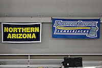 SAN ANTONIO, TX - FEBRUARY 22, 2008: The Northern Arizona University Lumberjacks compete during Day 3 of the Western Athletic Conference Swimming & Diving Championships at the Palo Alto College Natatorium. (Photo by Jeff Huehn)