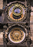 Astronomical clock Old Town Square Prague Czech Republic.