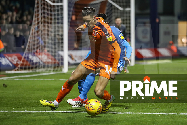 Harry Cornick of Luton Town during the Sky Bet League 1 match between Luton Town and Bradford City at Kenilworth Road, Luton, England on 27 November 2018. Photo by David Horn.