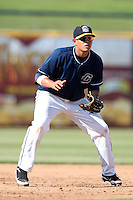 Lake County Captains third baseman Giovanny Urshela #32 during the second game of a double header against the West Michigan Whitecaps at Classic Park on May 30, 2011 in Eastlake, Ohio.  Lake County defeated West Michigan 4-3.  Photo By Mike Janes/Four Seam Images