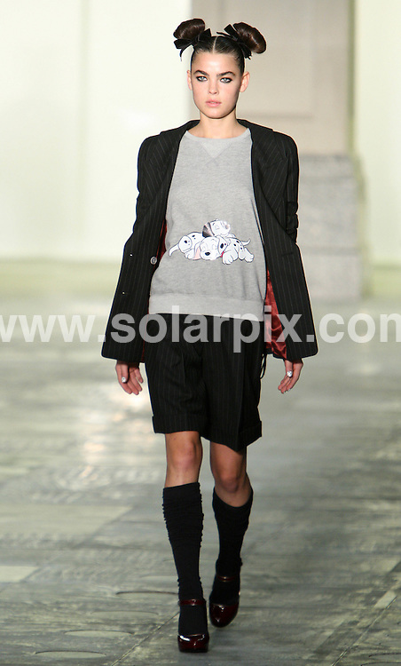 **ALL ROUND PICTURES FROM SOLARPIX.COM**                                             **WORLDWIDE SYNDICATION RIGHTS**                                                                                  Caption:                                                                               This pic: Unique Top Shop collection during London Fashion week 2011 at Somerset House in London, UK                                                                    This pic:  Models on the catwalk                                                                                                JOB REF: 12849       MLW       DATE: 20.02.20111