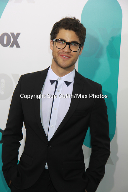 Glee's Darren Criss at The Fox 2012 Programming Presentation on May 14, 2012 at Wollman Rink, Central Park, New York City, New York. (Photo by Sue Coflin/Max Photos) 917-647-8403