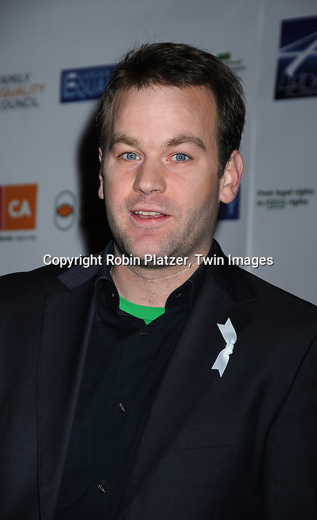 "Mike Birbiglia..posing for photographers at ""Defying Inequality"" The Broadway Concert on February 23, 2009 at The Gershwin Theatre in New York City. The concert was a benefit for Equal Rights for gay people to be able to marry. ....Robin Platzer, Twin Images"