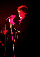Montreal (Qc) CANADA - File Photo - Circa 1986- ECHO AND THE BUNNYMEN Performing at Montreal's Theatre Saint-Denis.<br /> <br /> -Photo (c)  Images Distribution