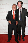 (Left) Tuskegee Airman Roscoe Brown and Peter W Kunhardt Jr. pose on red carpet, at the Gordon Parks Foundation 2014 Award Dinner and Auction on June 3, 2014 at Cipriani Wall Street, located on 55 Wall Street.