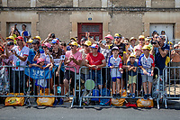 enthusiastic crowds at the finish in Fontenay-le-Comte<br /> <br /> Stage 1: Noirmoutier-en-l'&Icirc;le &gt; Fontenay-le-Comte (189km)<br /> <br /> Le Grand D&eacute;part 2018<br /> 105th Tour de France 2018<br /> &copy;kramon