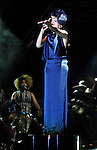 Paloma Faith   performs on stage  at the big feastival  held at Alex James' farm near Kingham, Oxfordshire 01/09/2012