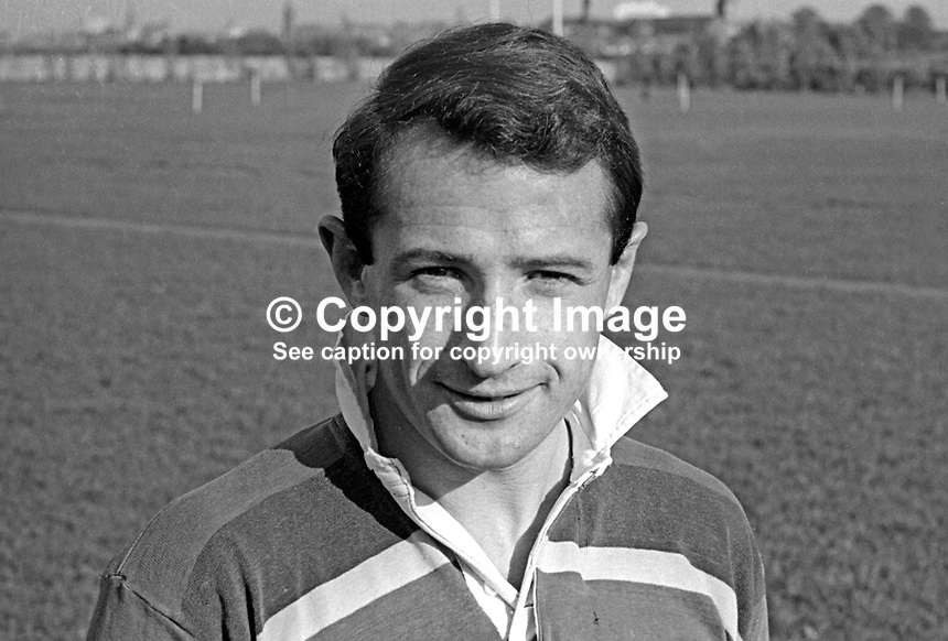 Edward Hanna, rugby player, Instonians RFC, Belfast, N Ireland, October, 1967, 196710000114<br />