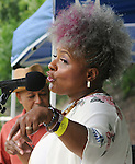 Stephanie Hancock, singing at the Annual Jazz in the Valley Festival, in Waryas Park in Poughkeepsie, NY, on Sunday, August 21, 2016. Photo by Jim Peppler. Copyright Jim Peppler 2016 all rights reserved.