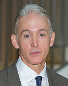 United States Representative Trey Gowdy (Republican of South Carolina), Chairman of a US House Select Committee to investigate the 2012 Benghazi attack, answers reporter's questions as he arrives in the US Capitol in Washington, DC on Friday, September 4, 2015 to preside over the deposition of Jake Sullivan.<br /> Credit: Ron Sachs / CNP<br /> (RESTRICTION: NO New York or New Jersey Newspapers or newspapers within a 75 mile radius of New York City)