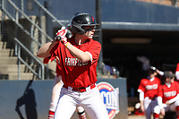 GREENSBORO, NC - FEBRUARY 22: Lacey Olaff #14 of Fairfield University waits for a pitch during a game between Fairfield and North Carolina at UNCG Softball Stadium on February 22, 2020 in Greensboro, North Carolina.