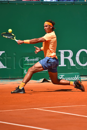 13.04.2016. Monte Carlo, Monaco. Monte Carlo ATP Tennis championships.  Rafael Nadal (Esp) defeats Bedene (UK) in 2 rounds