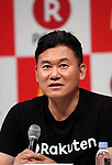 May 26, 2017, Tokyo, Japan - Japan's online commerce giant Rakuten president Hiroshi Mikitani speaks as Rakuten and McDonald's Japan announce that Rakuten's point service can be used at McDonald's restaurants in Japan from June 1 at a press conference in Tokyo on Friday, May 26, 2017.   (Photo by Yoshio Tsunoda/AFLO) LwX -ytd-