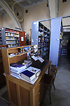 Israel, Shephelah, the Trappist Monastery in Latrun, the library.