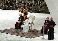 Papa Francesco tiene un'udienza ai familiari delle vittime dell'attacco terroristico di Nizza, in Aula Paolo VI, Citta' del Vaticano, 24 settembre 2016.<br /> Pope Francis attends an audience with relatives of the terrorist attack victims in Nice at the Paul VI hall in Vatican City, 24 September 2016.<br /> UPDATE IMAGES PRESS/Riccardo De Luca<br /> <br /> STRICTLY ONLY FOR EDITORIAL USEBishop of Nice Andre Marceau