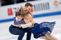 24th March 2018, Mediolanum Forum, Milan, Italy; ISU World Figure Skating Championships Milan 2018; Gabriella Papadakis and Guillaume Cizeron winners of the gold medal