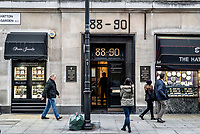 UK. London. 4th December 2015<br /> The entrance to Hatton Garden Safe Deposit Ltd.<br /> Andrew Testa for the New York Times