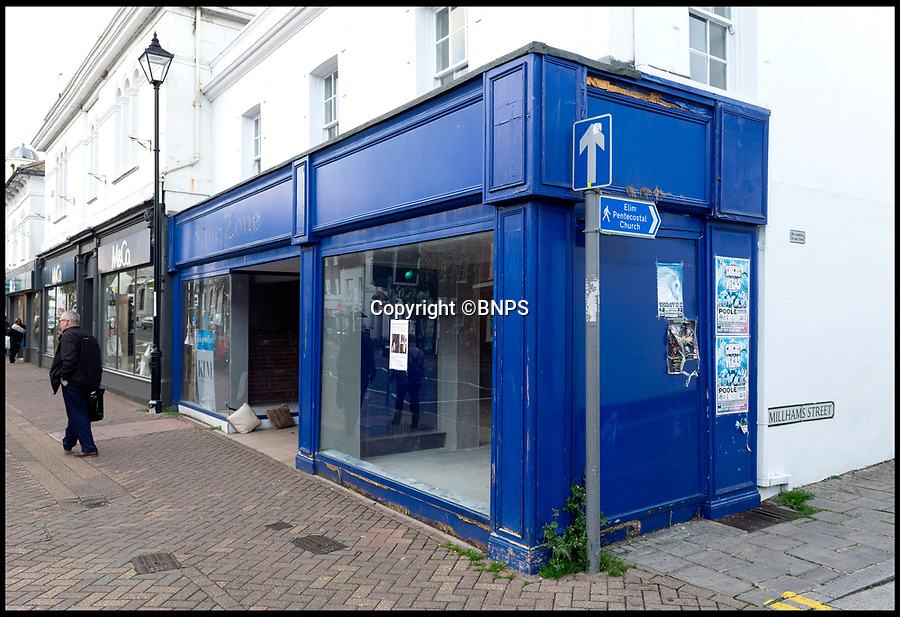 BNPS.co.uk (01202 558833)<br /> Pic:  RogerArbon/BNPS<br /> <br /> 'Coffee No 1' will actually be the 15th coffee shop to open in Christchurch - This empty store has now been granted permission after an appeal.<br /> <br /> A retirement town that is overspilling with coffee shops is to get its 15th after officials lost their bid to put a lid on them.<br /> <br /> Councillors in Christchurch, Dorset, refused a Coffee#1 permission to take over an empty shop because the town had too many cafes.<br /> <br /> But the national chain appealed the decision and have won their case.<br /> <br /> It means there will now be 15 coffee shops in a 500 metre stretch of the High Street - or one every 33 metres.