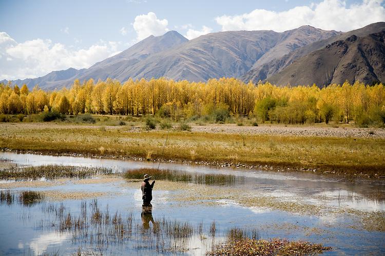 Fall scenes near Lhasa, Tibet