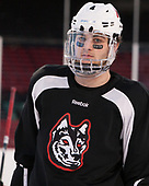 Jeremy Davies (NU - 4) (assume Saturdays are for the boys) The Northeastern University Huskies practiced at Fenway on Friday, January 13, 2017, in Boston, Massachusetts.