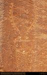Fremont Culture Petroglyphs, Anthropomorph in Headdress, Fruita Petroglyph Panels, Capitol Reef National Park, South-Central Utah