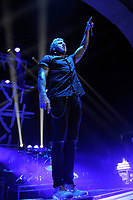 LONDON, ENGLAND - OCTOBER 10: Jacoby Shaddix of 'Papa Roach' performing at Brixton Academy on October 10, 2017 in London, England.<br /> CAP/MAR<br /> &copy;MAR/Capital Pictures