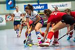 Mannheim, Germany, November 29: During the Bundesliga indoor women hockey match between Mannheimer HC and TSV Mannheim on November 29, 2019 at Irma-Roechling-Halle in Mannheim, Germany. Final score 4-4. (Copyright Dirk Markgraf / 265-images.com) *** Jules Meffert #97 of Mannheimer HC