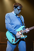 HOLLYWOOD FL - NOVEMBER 8 : Rivers Cuomo of Weezer performs at Hard Rock live held at the Seminole Hard Rock hotel & Casino on November 8, 2012 in Hollywood, Florida. Credit: mpi04/Mediap/NortePhoto