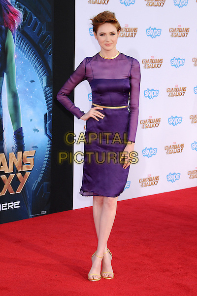 21 July 2014 - Hollywood, California - Karen Gillan. 'Guardians of the Galaxy' Los Angeles Premiere held at the Dolby Theatre. <br /> CAP/ADM/BP<br /> &copy;Byron Purvis/AdMedia/Capital Pictures