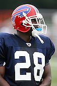 July 30th 2008:  Rookie first round draft pick Leodis McKelvin (28) of the Buffalo Bills during the sixth day of training camp at St. John Fisher College in Rochester, NY.  Photo Copyright Mike Janes Photography