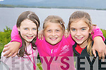FRIENDS: Killarney girls Shannon OShea (left) and.Rayam Coffey (right) have fun with Christina from Chernobyl.at the Killarney Regatta at OMahonys Point