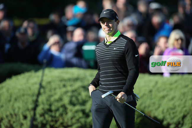 Rory MCILROY (NIR) greeted on the first tee like royalty during the Pro-Am ahead of the 2015 BMW PGA Championship over the West Course at Wentworth, Virginia Water, London. Picture David lloyd, www.golffile.ie: 20/05/2015