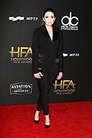 BEVERLY HILLS, CA - NOVEMBER 5: Elizabeth Olsen, at The 21st Annual Hollywood Film Awards at the The Beverly Hilton Hotel in Beverly Hills, California on November 5, 2017. Credit: Faye Sadou/MediaPunch
