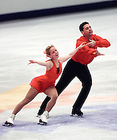Anabelle Langlois and Patrice Archetto Canadian figure skaters compete at the 2002 Olympics in Salt Lake, USA. Photo copyright Scott Grant.