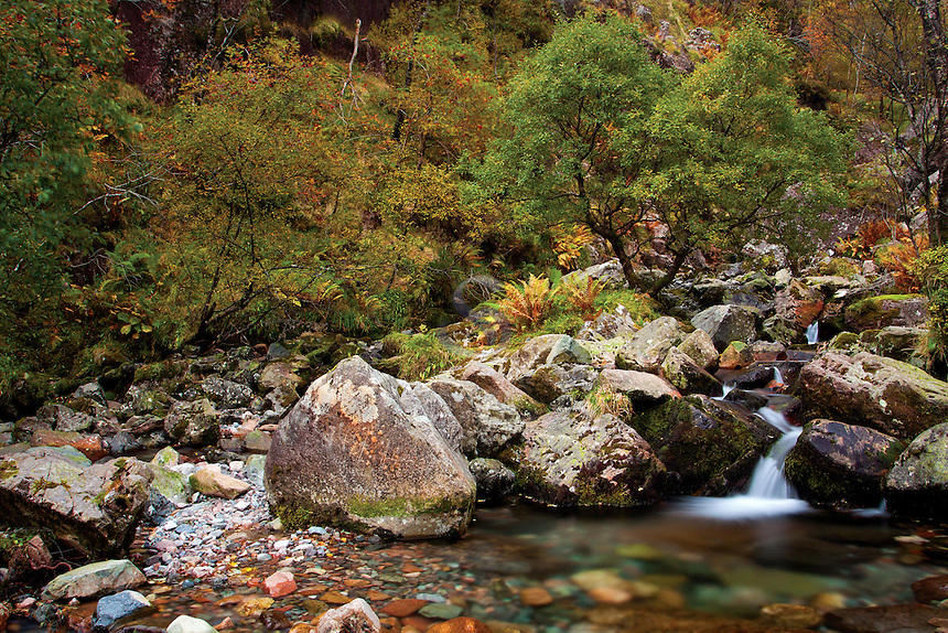 The Allt Coire Gabhail, Coire Gabhail, the Lost Valley, Glencoe, Lochaber